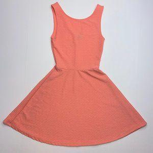 DIVIDED H&M Dress Textured V-Back Mini Orange sz 4